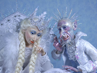 Ice Queen - One-of-a-kind Art Doll by Tanya Abaimova