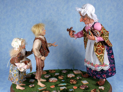 Hansel and Gretel - One-of-a-kind Art Doll by Tanya Abaimova