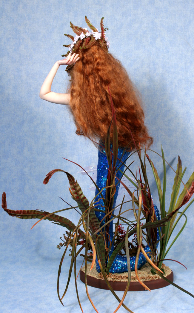 Flower of the Sea Mermaid - One-Of-A-Kind Doll by Tanya Abaimova. Creatures Gallery