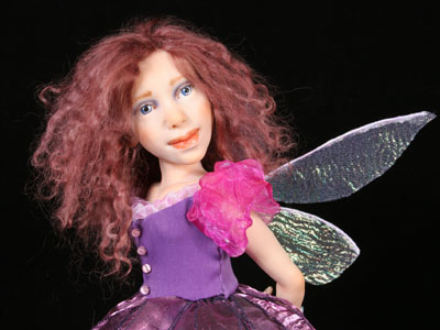 Violet - One-of-a-kind Art Doll by Tanya Abaimova