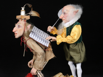 The Biographer's Shop - One-of-a-kind Art Doll by Tanya Abaimova