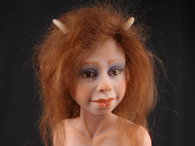 Goat Girl - One-of-a-kind Art Doll by Tanya Abaimova
