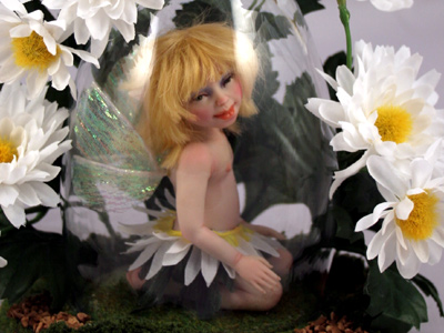 Daisy Fairy - One-of-a-kind Art Doll by Tanya Abaimova