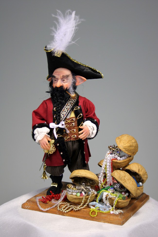 Captain Black Beard - One-Of-A-Kind Doll by Tanya Abaimova. Creatures Gallery