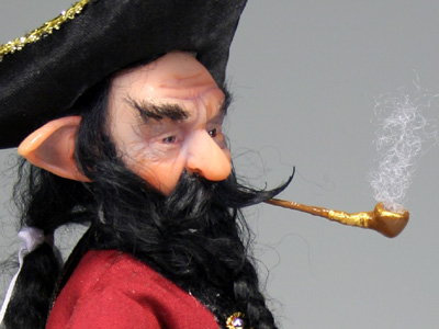 Captain Black Beard - One-of-a-kind Art Doll by Tanya Abaimova