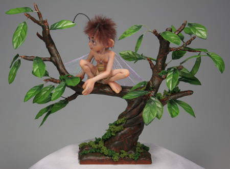 Acorn Moth Fairy - One-Of-A-Kind Doll by Tanya Abaimova. Creatures Gallery