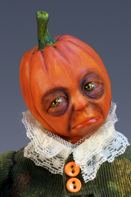 Pumpkinhead - One-Of-A-Kind Doll by Tanya Abaimova. Creatures Gallery