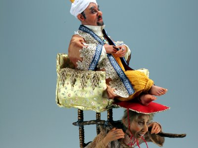 Rickshaw - One-of-a-kind Art Doll by Tanya Abaimova