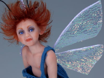Blue Pixie - One-of-a-kind Art Doll by Tanya Abaimova