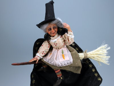 Happy Witch - One-of-a-kind Art Doll by Tanya Abaimova