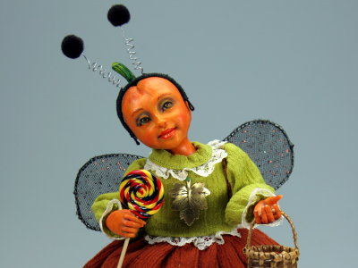 Trick-Or-Treat - One-of-a-kind Art Doll by Tanya Abaimova