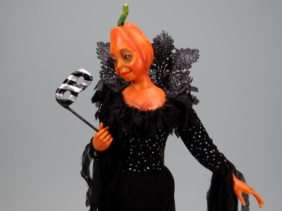 Halloween Masquerade - One-of-a-kind Art Doll by Tanya Abaimova