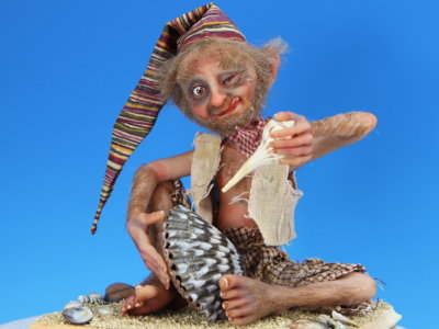Life on a Shore - One-of-a-kind Art Doll by Tanya Abaimova