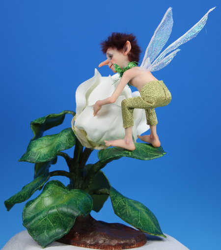 Hummingbird Pixie - One-Of-A-Kind Doll by Tanya Abaimova. Creatures Gallery