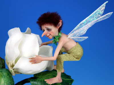 Hummingbird Pixie - One-of-a-kind Art Doll by Tanya Abaimova