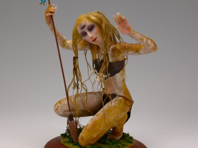 Huntress - One-of-a-kind Art Doll by Tanya Abaimova