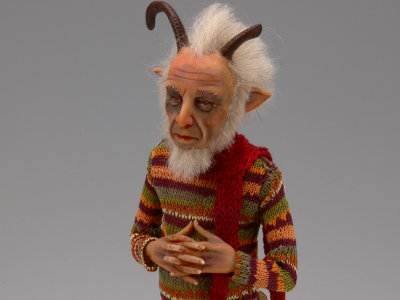 Old Satyr - One-of-a-kind Art Doll by Tanya Abaimova