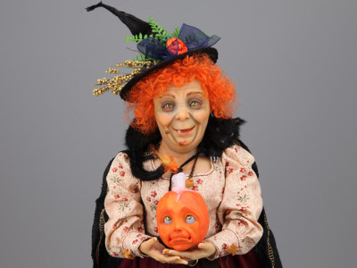 Halloween Welcome - One-of-a-kind Art Doll by Tanya Abaimova