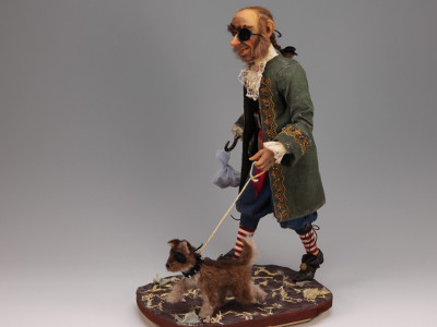 Pirate's Best Friend - One-of-a-kind Art Doll by Tanya Abaimova