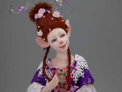 Chedderette D'Fromage - One-of-a-kind Art Doll by Tanya Abaimova