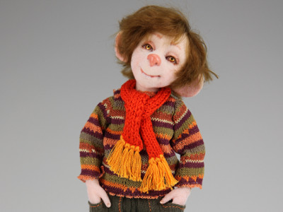 Sam - One-of-a-kind Art Doll by Tanya Abaimova