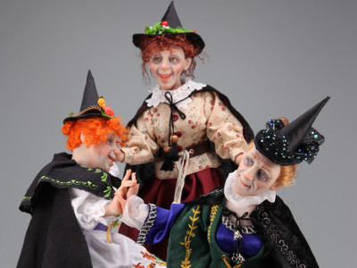Dancing Witches - One-of-a-kind Art Doll by Tanya Abaimova