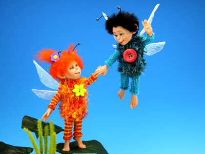 Let's Fly With Me - One-of-a-kind Art Doll by Tanya Abaimova