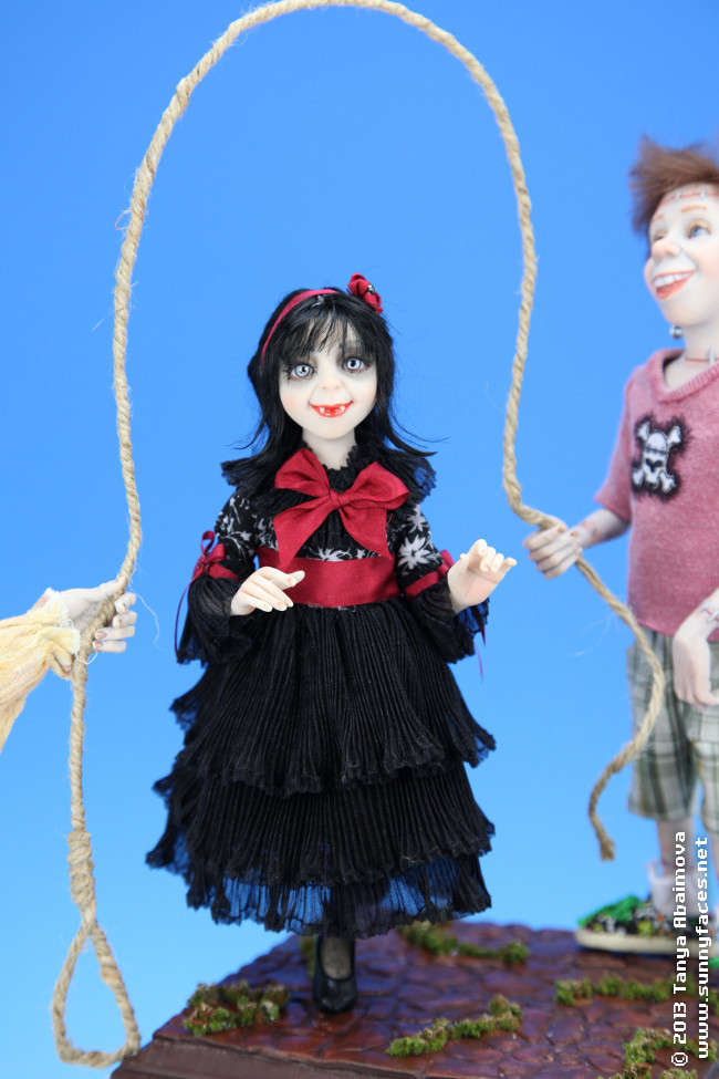 Jumping Rope - One-Of-A-Kind Doll by Tanya Abaimova. Characters Gallery