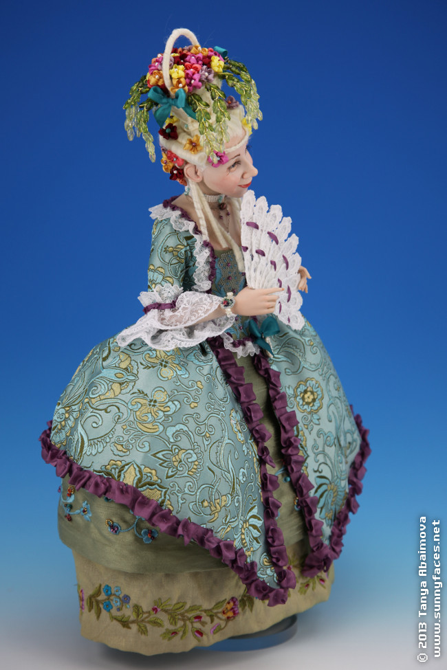 Flower Basket - One-Of-A-Kind Doll by Tanya Abaimova. Characters Gallery