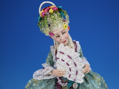 Flower Basket - One-of-a-kind Art Doll by Tanya Abaimova