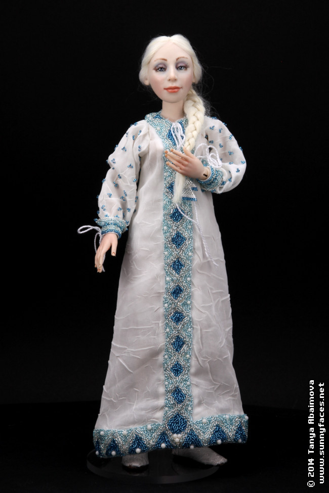 Snow Maiden - One-Of-A-Kind Doll by Tanya Abaimova. Characters Gallery