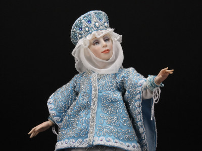 Snow Maiden - One-of-a-kind Art Doll by Tanya Abaimova