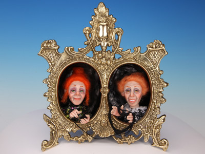 Witch Sisters - One-of-a-kind Art Doll by Tanya Abaimova