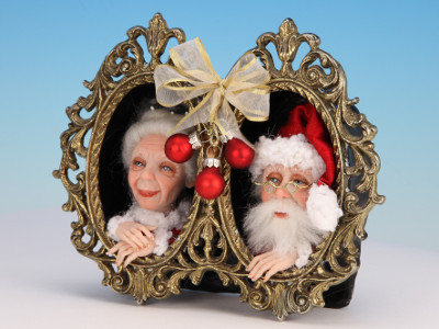 Mr. and Mrs. Claus - One-of-a-kind Art Doll by Tanya Abaimova