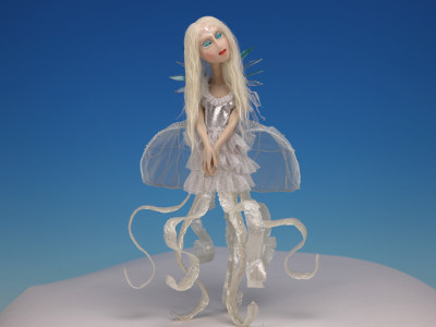 Jelly Fish - One-of-a-kind Art Doll by Tanya Abaimova