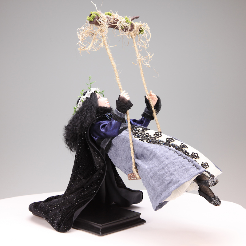 Swings Under The Moon - One-Of-A-Kind Doll by Tanya Abaimova. Creatures Gallery