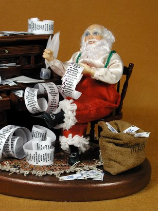 Santa's Checklist - One-Of-A-Kind Doll by Tanya Abaimova. Characters Gallery