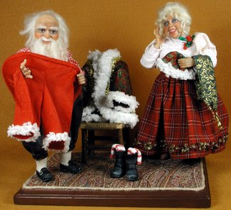 Santa's Old Costume - One-Of-A-Kind Doll by Tanya Abaimova. Characters Gallery