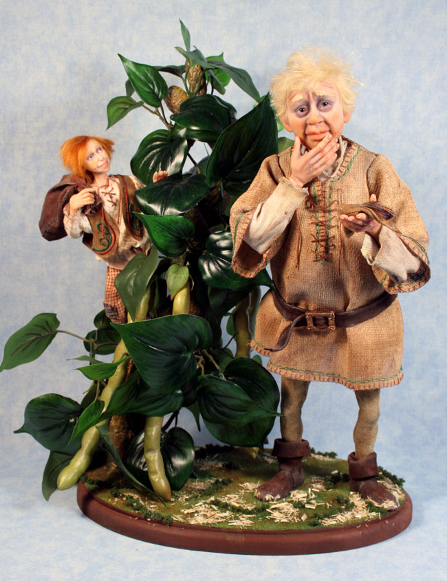 Jack and the Beanstalk - One-Of-A-Kind Doll by Tanya Abaimova. Characters Gallery