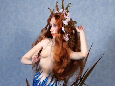 Flower of the Sea Mermaid - One-of-a-kind Art Doll by Tanya Abaimova