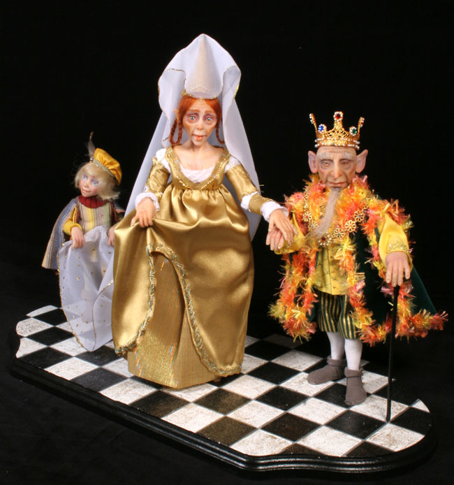 The Royal Couple - One-Of-A-Kind Doll by Tanya Abaimova. Creatures Gallery