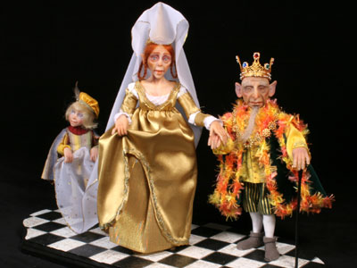 The Royal Couple - One-of-a-kind Art Doll by Tanya Abaimova