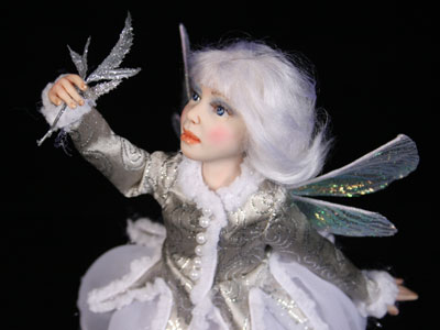 Snowflake Fairy - One-of-a-kind Art Doll by Tanya Abaimova