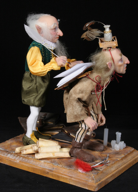 The Biographer's Shop - One-Of-A-Kind Doll by Tanya Abaimova. Creatures Gallery
