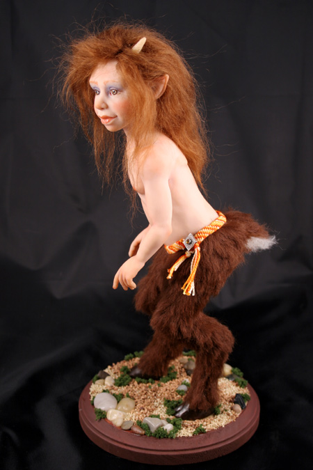 Goat Girl - One-Of-A-Kind Doll by Tanya Abaimova. Creatures Gallery
