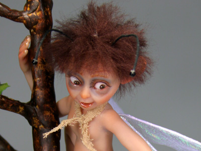 Little Moth - One-of-a-kind Art Doll by Tanya Abaimova