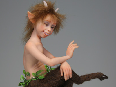 Young Satyr - One-of-a-kind Art Doll by Tanya Abaimova