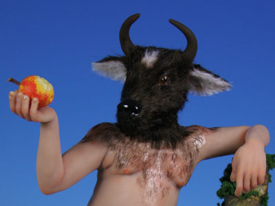 Minotaur - One-of-a-kind Art Doll by Tanya Abaimova