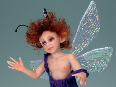 Violet Pixie - One-of-a-kind Art Doll by Tanya Abaimova