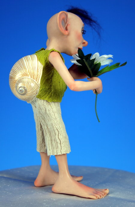 Snailman And A Daisy - One-Of-A-Kind Doll by Tanya Abaimova. Creatures Gallery